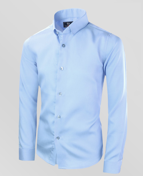 Black n Bianco Baby Blue  Formal Dress Shirt