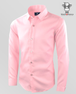 Boys Light Pink Button Down Sateen Dress Shirt By Black n Bianco.