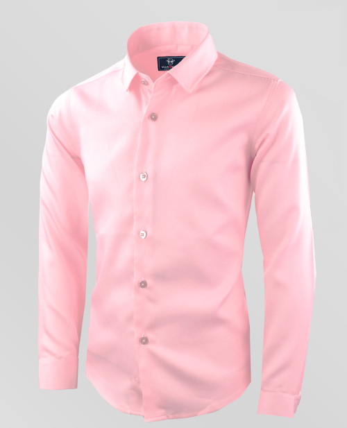 Boys Baby Pink Formal Dress Shirt by Black n Bianco