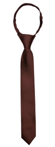 Black n Bianco Brown Slim Neck Tie for Boys and Kids