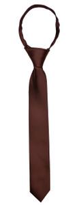 Black n Bianco Brown Slim Neck Tie for Boys and Kids