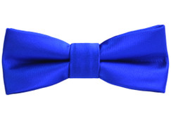 Black n Bianco Boys Slim Blue Bow Tie