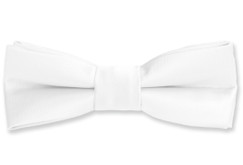 Black n Bianco Boys' White Bow Tie