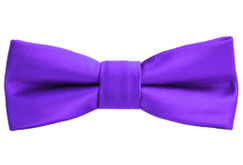 Black n Bianco Boys' Purple Bow Tie