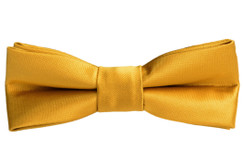 Black n Bianco Boys' Gold Bow Tie