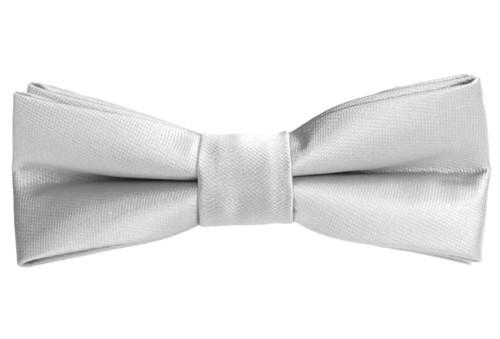 Black n Bianco Boys' Silver Slim Bow Tie