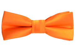 Black n Bianco Boys' Orange Slim Bow Tie Design