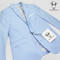 Black n Bianco Baby Blue Blazer Suit