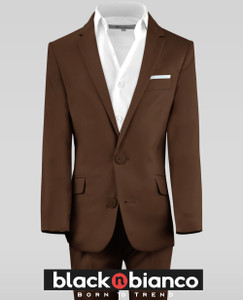 Black n Bianco Coco Brown Boys Suits