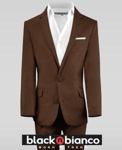 Black n Bianco Coco Brown Boys Suits