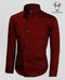 Boys Button Down Dress Shirt in Burgundy, For Kids of All Sizes