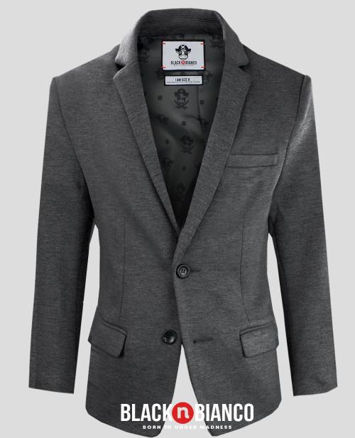 Black n Bianco Dark Gray Blazer