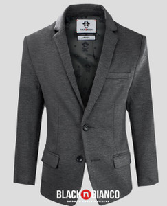 Black n Bianco Dark Gray Blazer