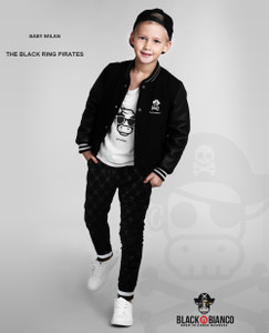 Black n Bianco Monogram Black Sweatpants Streetwear