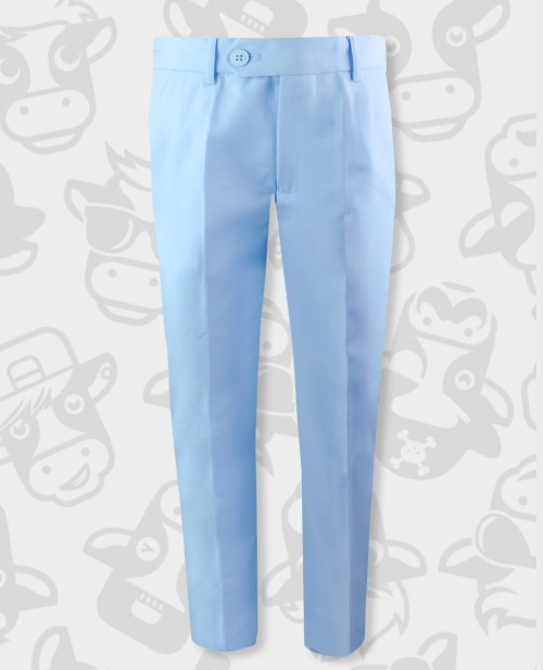 Black n Bianco First Class Slim Fit Trousers in Light Blue for Boys
