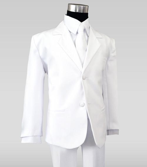 Black n Bianco Boys White Suit