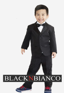 Ring Bearer Outfit Tuxedo in black for kids