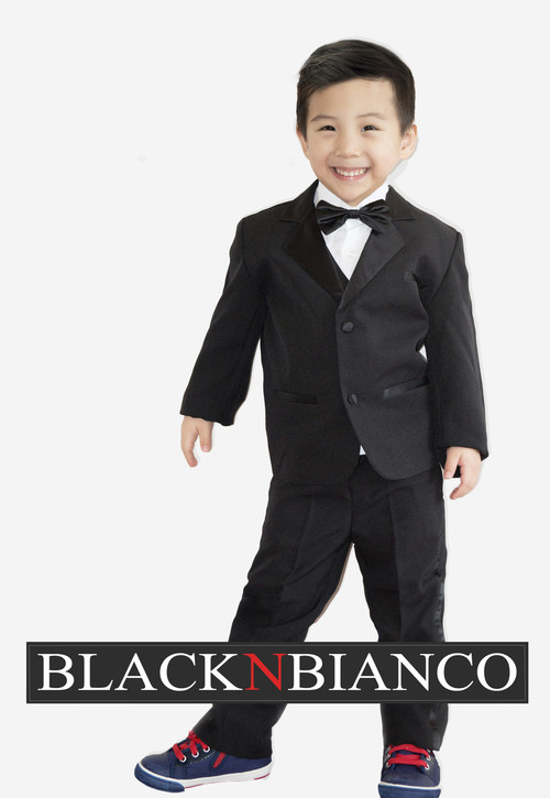 Boys Black Tuxedo For Toddlers and Infants Weddings