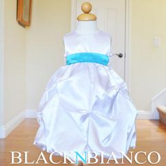 White Flower Girl Pageant Wedding Dress