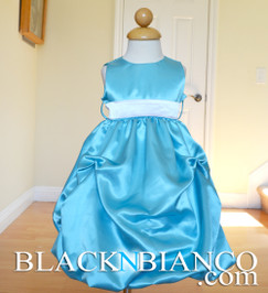 Turquoise Flower Girl Pageant Wedding Dress