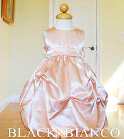 Peach Flower Girl Pageant Wedding Dress