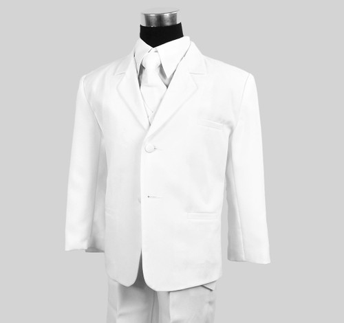 Black n Bianco Boys White Suit