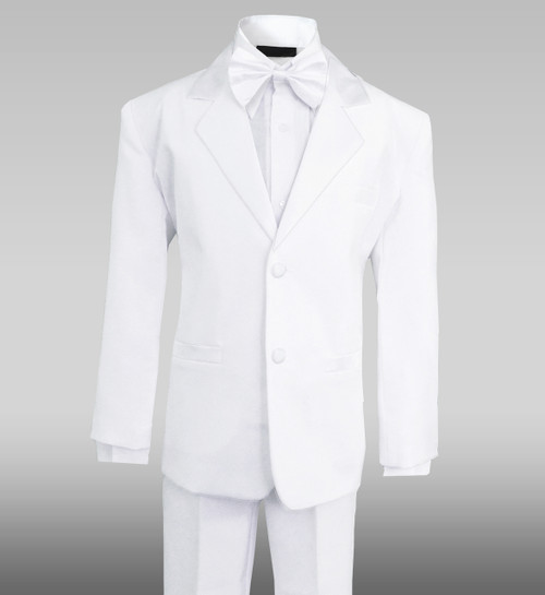 Boys White Tuxedo by Black n Bianco
