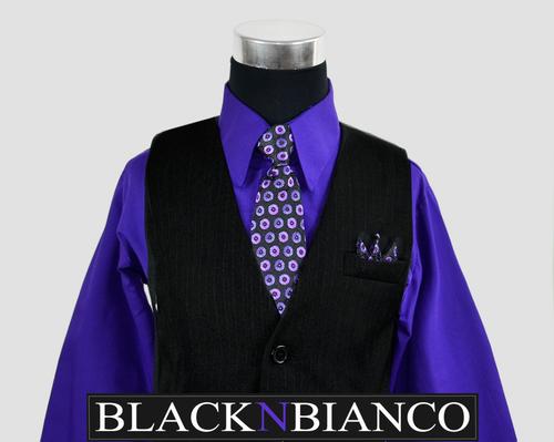 Boys Vest Suit BLACK N BIANCO