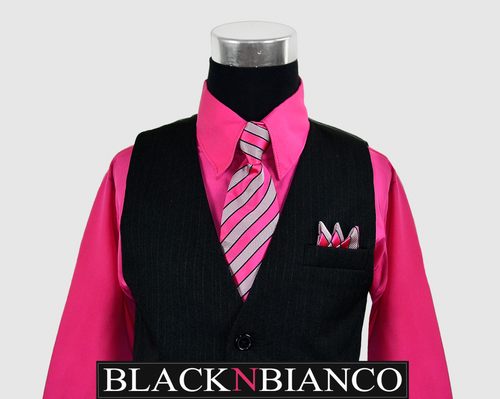 Pink Fuchsia Vest Suit for Boys