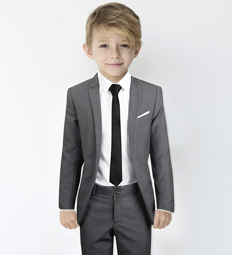 57ca90310f1 Black N Bianco Siganture Boys Grey Slim Fit Suit Complete Outfit