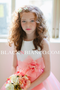Organza Flower Girl Dress in Coral BLACK N BIANCO