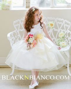 Adorable Flower Girl In with Ruffled skirt