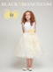 Flower Girl Dress Organza Ruffled Skirt