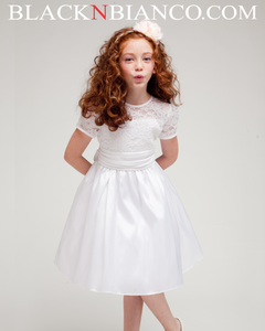 White Flower Girl Dress made in USA