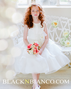 Ivory Heavenly Style Flower Girl Dress