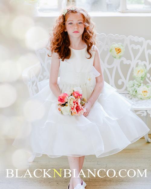 Ivory Heavenly Style Flower Girl Dress