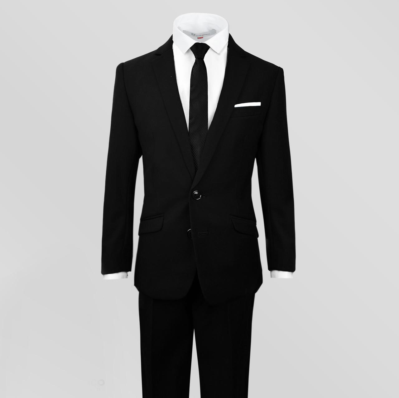 0f44c3b72 Boys Black Suit Slim Fit Dresswear Outwear Set - BLACK N BIANCO
