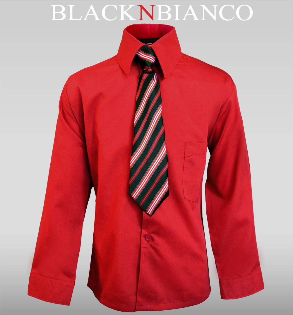 Red Dress Shirt For Boys - Dada Dresses