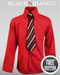 Boys Red Dress Shirt by Black n Bianco