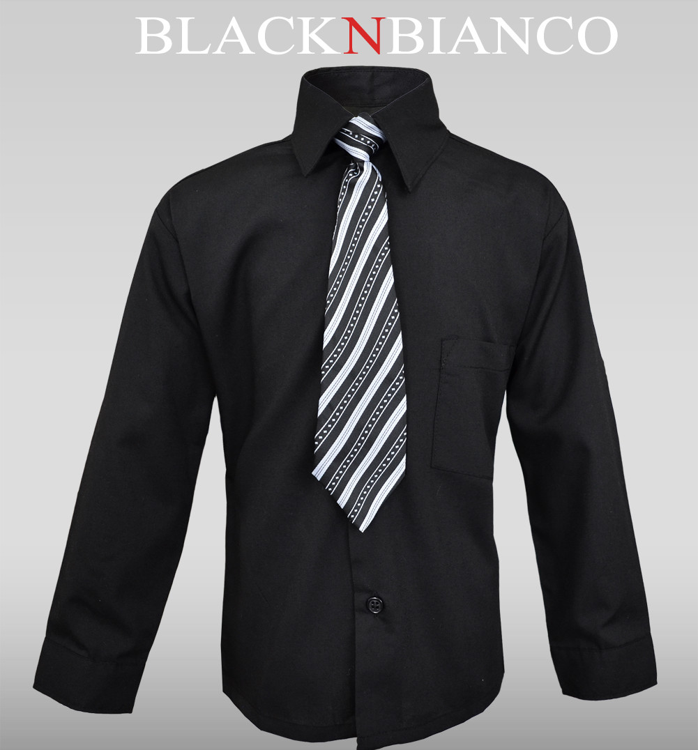 Black Dress Shirt For Boys U58Lunnu