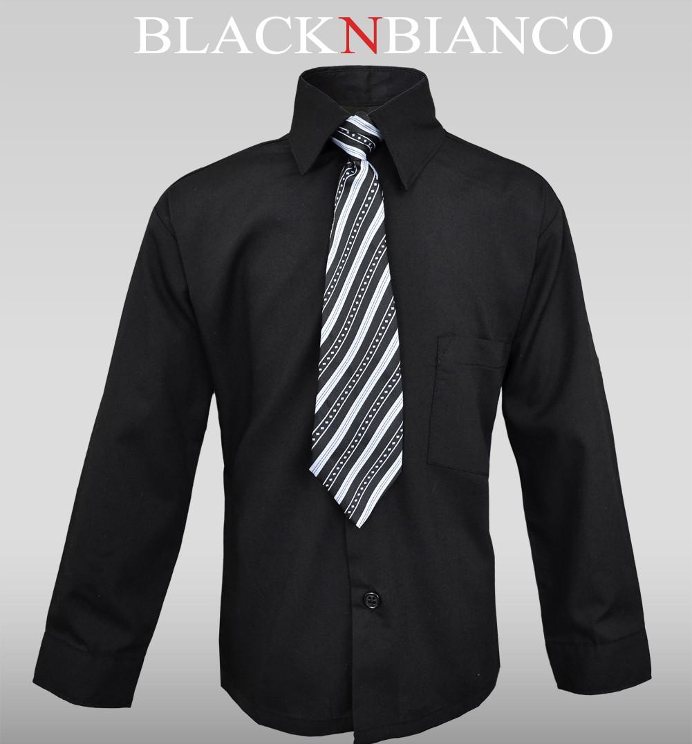 Boys Black Dress Shirt M4GVtfsx