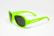 Baby Sunglasses, Aviators in Neon Green, Size 0-2 years