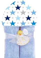 Deluxe Hooded Towel, Boy Stars