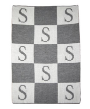 Personalized Stroller Blanket,  Blocks