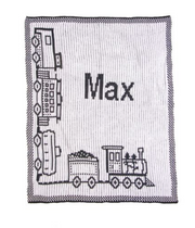Personalized Stroller Blanket, Train