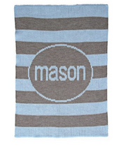 Personalized Stroller Blanket, Modern Stripes