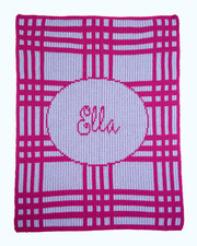 Personalized Stroller Blanket, Plaid