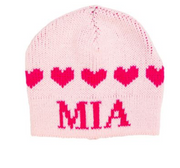 Personalized Hat, String of Hearts