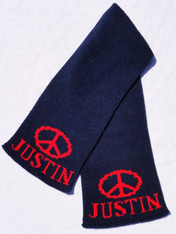 Personalized Scarf, Peace Sign