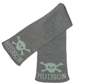 Personalized Scarf, Skull and Crossbone